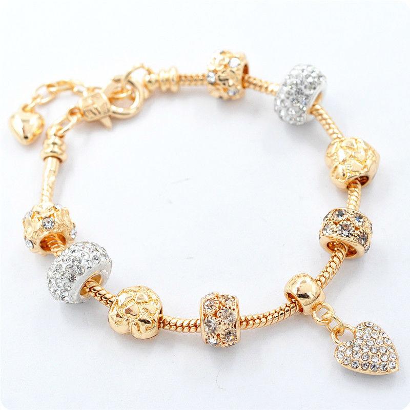 браслет Pandora Gold White золотой покупайте недорого в киеве