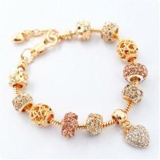 Браслет Pandora Pink Gold Love золотой