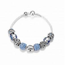Браслет Pandora Amor синий