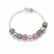 Браслет Pandora Amor розовый