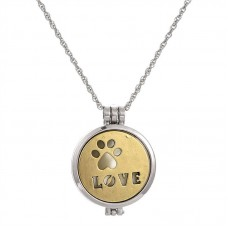 "Кулон ""Love"" с вкладышами золото"
