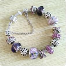 Браслет Pandora Flowers фиолетовый