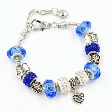 Браслет Pandora лапки синий