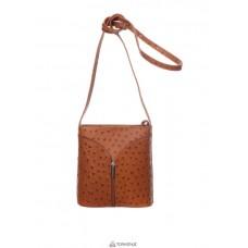 Женская кожаная сумка KYRA (Р2281) коньячная