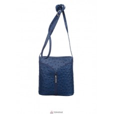 Женская кожаная сумка KYRA (Р2281) темно-синяя