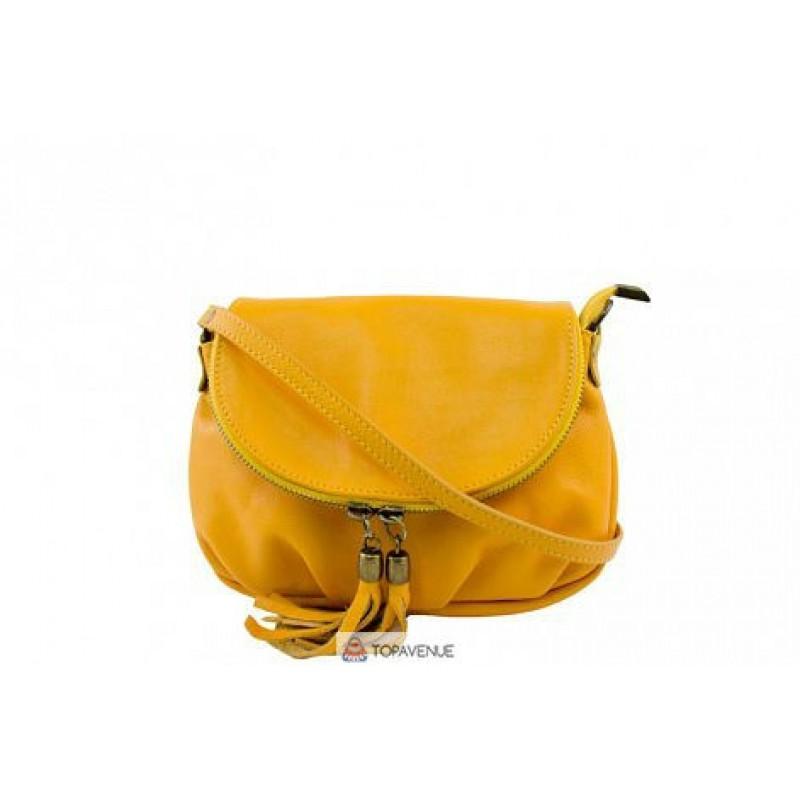 6128f524bf9a Женская кожаная сумка Mimma(TR961) желтая DIVAS из Италии