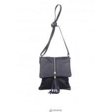 Женская кожаная сумка SAMIRA (TR931) темно-серая