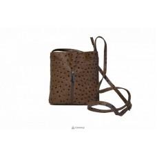 Женская кожаная сумка KYRA (Р2281) коричневая