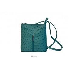 Женская кожаная сумка KYRA (Р2281) бирюзовая