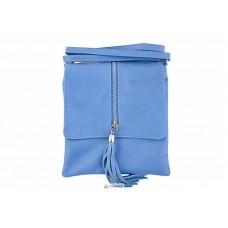 Женская кожаная сумка SAMIRA (TR931) голубая