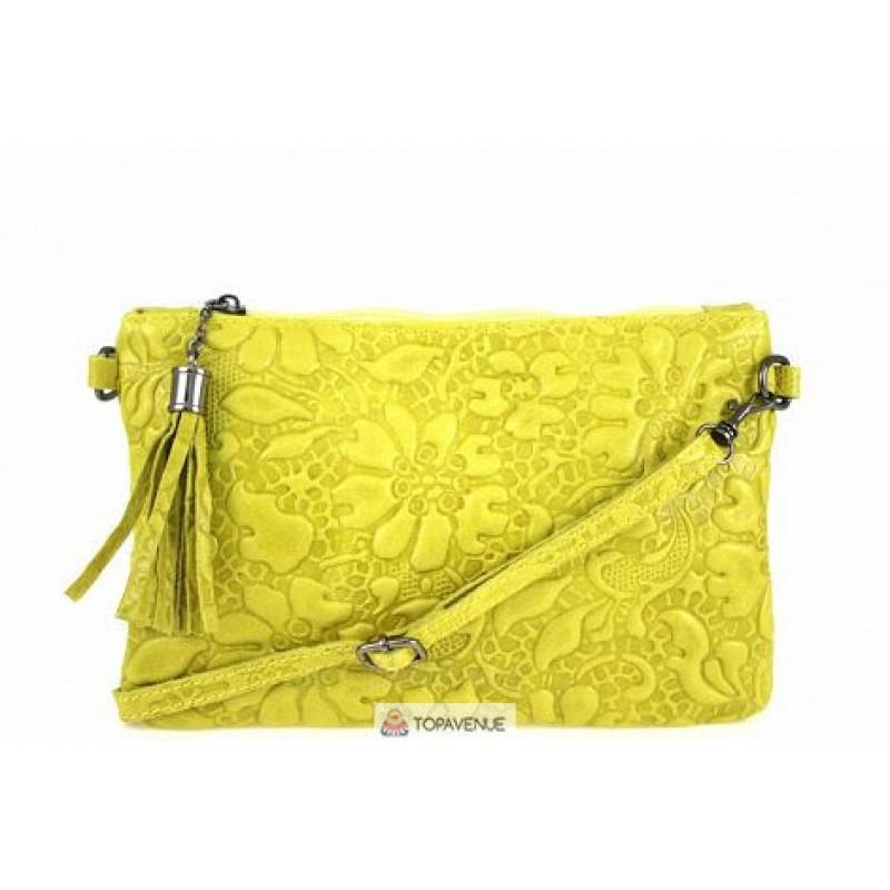 1cac0372905f Женская кожаная сумка Kisha (TR104) желтая DIVAS из Италии