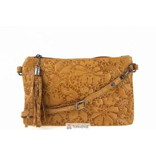 Женская кожаная сумка Kisha (TR104) коньячная