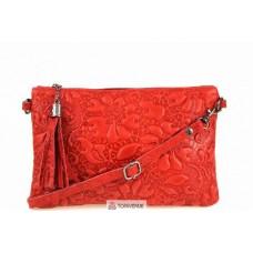 Женская кожаная сумка Kisha (TR104) красная