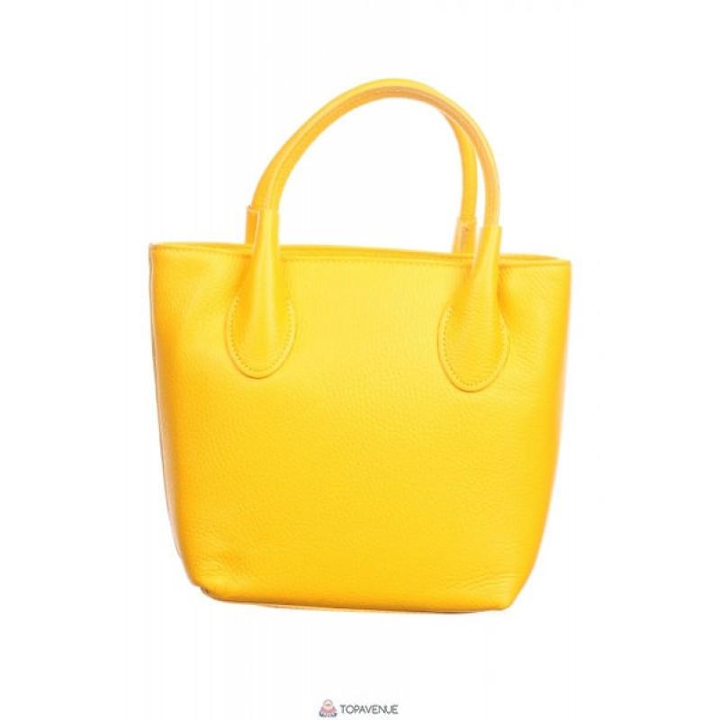 e63330b77d87 Женская кожаная сумка Molly (M8837) желтая DIVAS из Италии