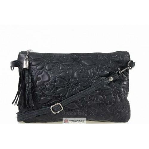 Женская кожаная сумка Kisha (TR104) черная