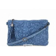 Женская кожаная сумка Kisha (TR104) темно-синяя