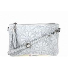 Женская кожаная сумка Kisha (TR104) серая