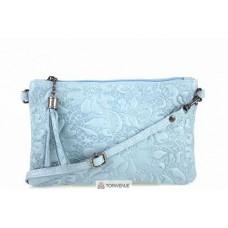 Женская кожаная сумка Kisha (TR104) голубая
