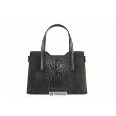 Женская кожаная сумка Maurine (M8955) темно-серая