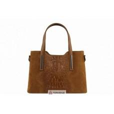 Женская кожаная сумка Maurine (M8955) коньячная