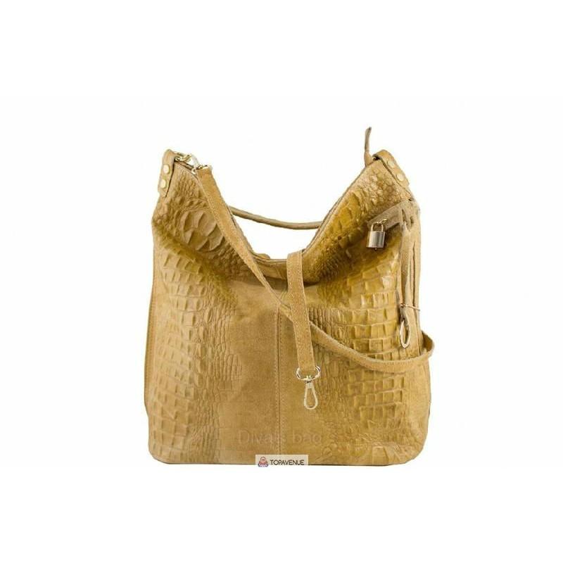 666fa46c0421 Женская кожаная сумка Luisa (S6983) желтая DIVAS из Италии