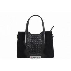 Женская кожаная сумка Maurine (M8955) черная
