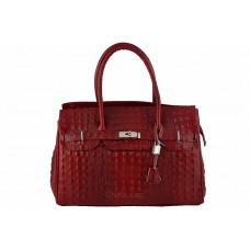 Женская кожаная сумка GLORIA (M8824) красная