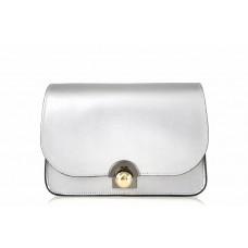 Женская кожаная сумка Dina (TR114) серебро