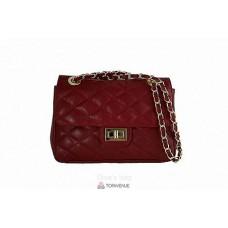 Женская кожаная сумка VALENTINA (TR924) красная
