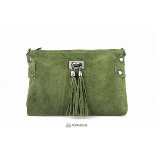 Женский замшевый клатч Tianna (TR106) зеленый
