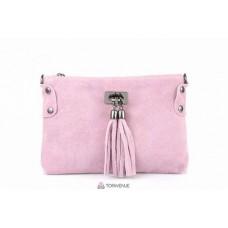 Женский замшевый клатч Tianna (TR106) розовый