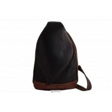 Женская кожаная сумка BLOSSOM (S6924) черная с коричневым