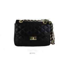 Женская кожаная сумка VALENTINA (TR924) черная