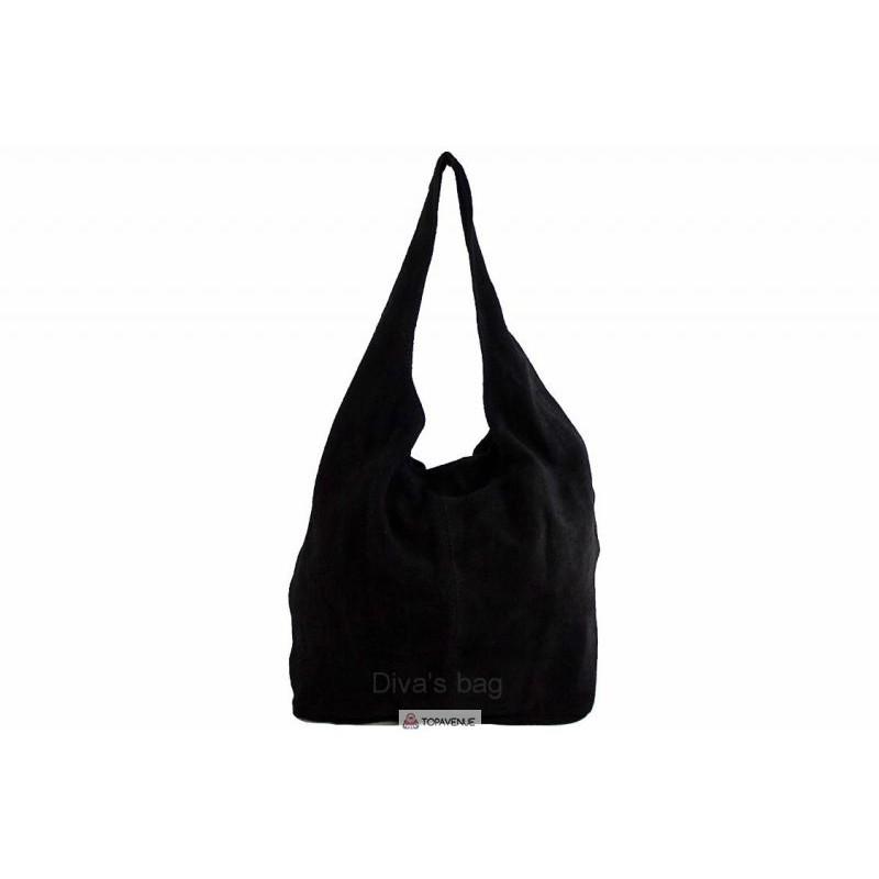880b5ff4f1a4 Женская замшевая сумка MONICA(BS15206) черная DIVAS из Италии