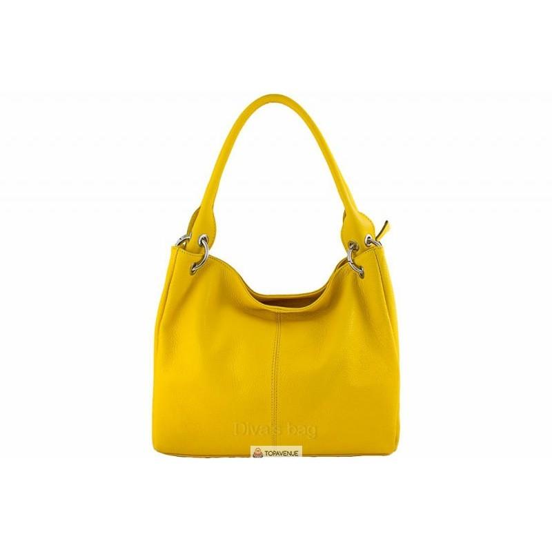 d0f8341ab608 Женская кожаная сумка ASIA (S6814) желтая DIVAS из Италии