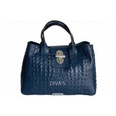 Женская кожаная сумка LAURA (BM11205) темно-синяя