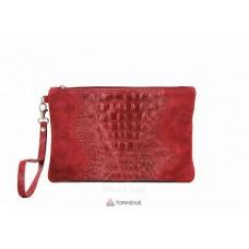 Женский замшевый клатч Pollie (601) красный