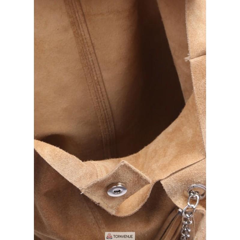 16ea4e4a2425 Женская замшевая сумка ARIANNA (S6813) песочная DIVAS из Италии