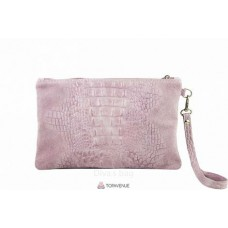 Женский замшевый клатч Pollie (601) розовый