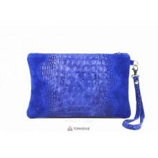 Женский замшевый клатч Pollie (601) синий