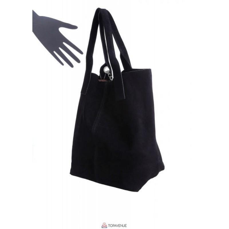 bf8db0d07ccd Женская замшевая сумка ARIANNA (S6813) черная DIVAS из Италии