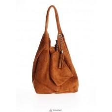 Женская замшевая сумка ARIANNA (S6813) коньячная