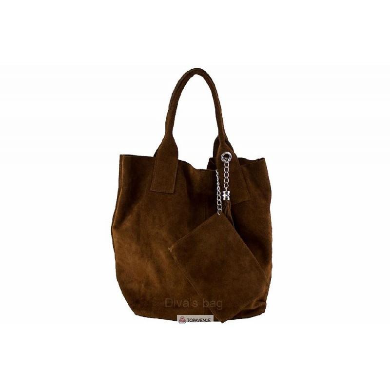 d49064e72b3b Женская замшевая сумка ARIANNA (S6813) коричневая DIVAS из Италии