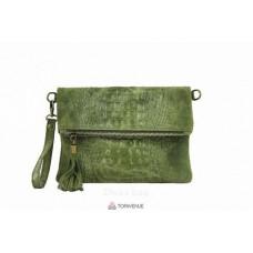 Женский замшевый клатч Tecla (TR973) зеленый