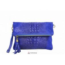 Женский замшевый клатч Tecla (TR973) синий