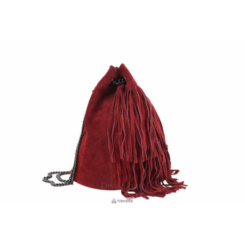 8502161c7ce3 Женская замшевая сумка Naima (TR977) коньячная DIVAS из Италии