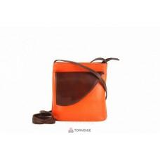 Женская кожаная сумка Dotty (TR964) оранжевая