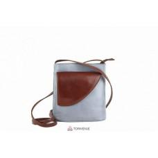 Женская кожаная сумка Dotty (TR964) серая