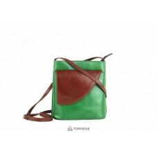 Женская кожаная сумка Dotty (TR964) зеленая