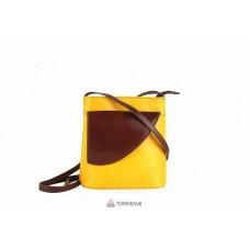 Женская кожаная сумка Dotty (TR964) желтая